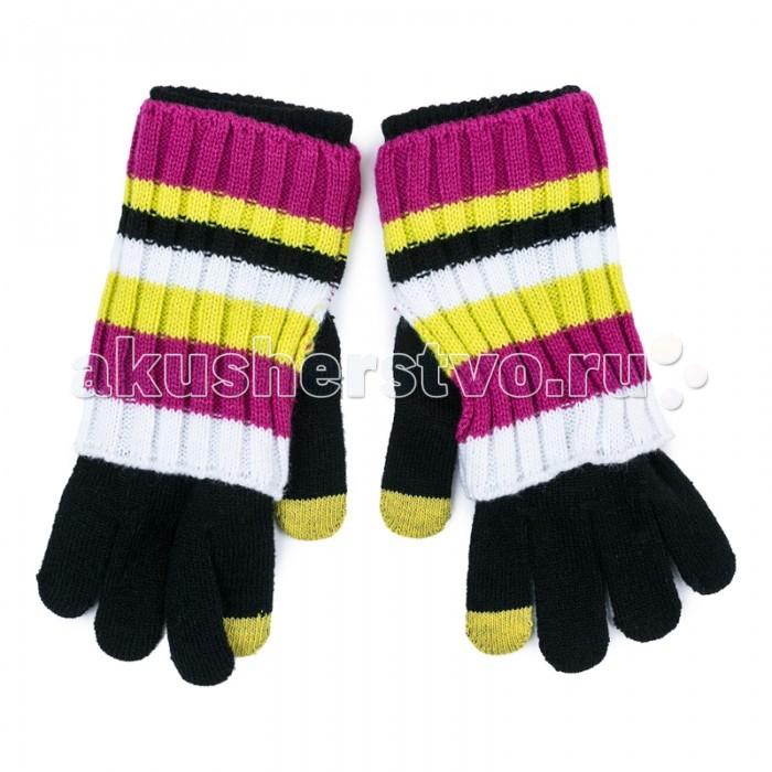 Варежки, перчатки и шарфы S'cool Перчатки трикотажные для девочек Городские огни 374032 аксессуары s'cool повязка на голову для девочек городские огни