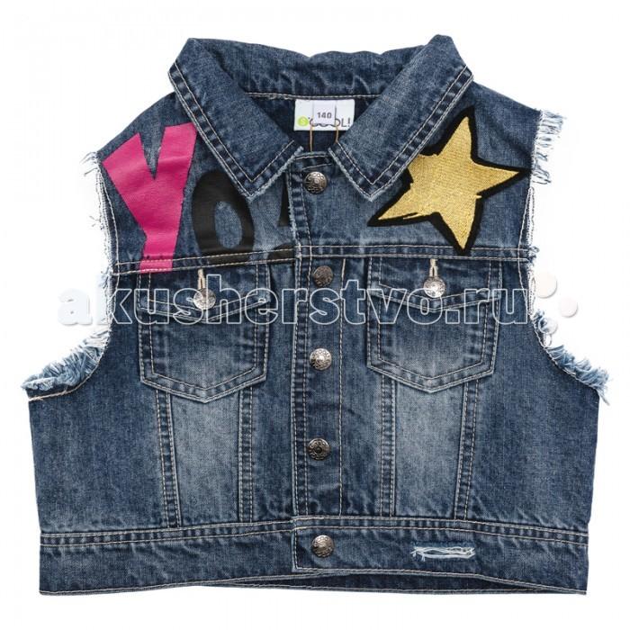 Детская одежда , Пиджаки, жакеты, жилетки S'cool Жилет джинсовый Hip Hop 174052 арт: 347595 -  Пиджаки, жакеты, жилетки