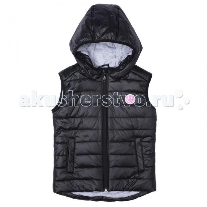 Детская одежда , Пиджаки, жакеты, жилетки S'cool Жилет текстильный для девочек Городские огни 374004 арт: 377639 -  Пиджаки, жакеты, жилетки