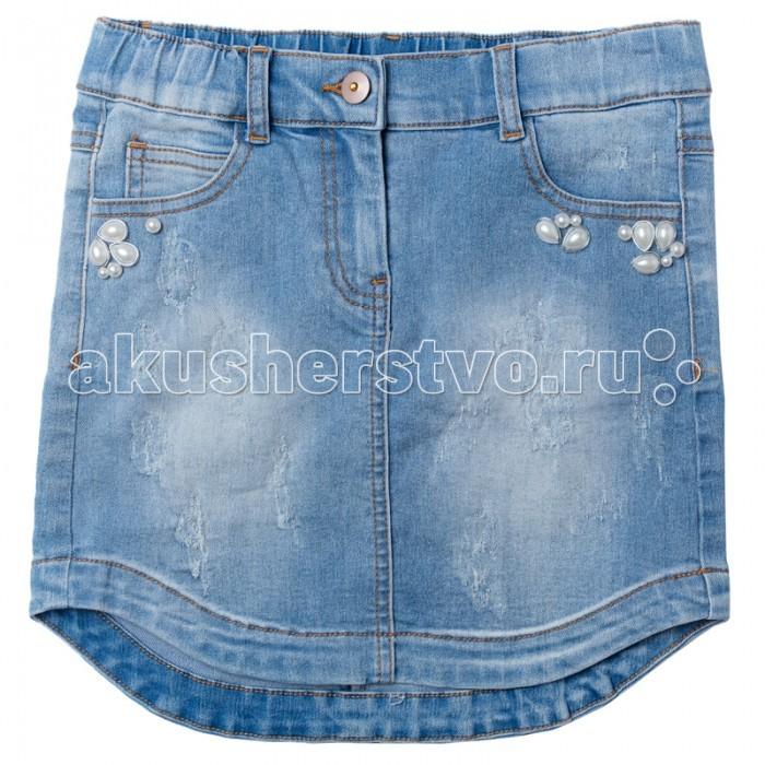 Детская одежда , Юбки S'cool Юбка джинсовая для девочки Best day 174010 арт: 341390 -  Юбки