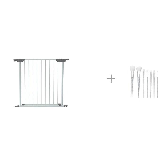 Барьеры и ворота SafeCare Дополнительная Секция-Ворота для заграждений безопасности 80 см и кисти для макияжа Серебро