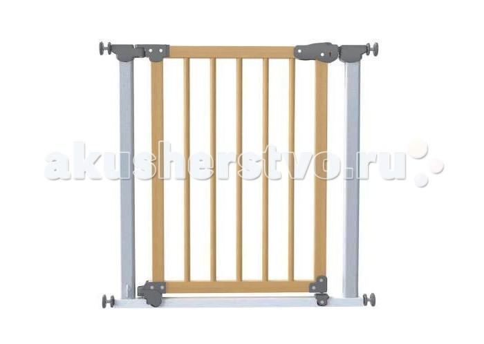Safe&amp;Care Ворота AUTO 77-83.5 смВорота AUTO 77-83.5 смВорота AUTO Safe&Care с дозакрывателем дверцы на распорках 77-83.5см быстро и надежно устанавливаются в дверные и лестничные проемы, по принципу распорок.    Особенности:    Ворота безопасности не требуют крепления в стены, поэтому после демонтажа не оставляют следов.   Оснащены механизмом автоматического закрывания калитки.  Подходят для дверных проемов 77-83,5см (с 6-тью дополнительными элементами удлинения до 127,5см  Уникальный магнитный замок  Цвет металлической рамы - белый или хром  Цвет деревянной дверной секции – бук  Цветовой индикатор для проверки надежности запирающего замка  U-образная рама с автоматически закрывающейся дверцей  Силиконовое покрытие упирающихся крепежных стержней для дополнительной безопасности  Легко устанавливаются без инструментов  Соответствуют международным требований безопасности En 1930:2000 , EN 1930:2009 и ASTM F1004-0.  Если ворота необходимо установить в проемы более 83,5 см, используются доп. элементы удлинения (приобретаются отдельно). Ширина каждого элемента – 7 см. Максимальное количество таких дополнительных секций, которые вы можете использовать – 6 штук, т.о. можно увеличить ширину защитного барьера до 125 см.<br>