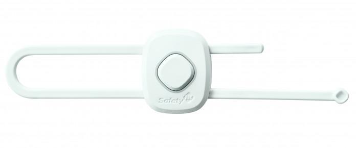 Блокирующие устройства Safety 1st Пластиковый блокиратор открывания распашных дверей шкафа с кнопкой