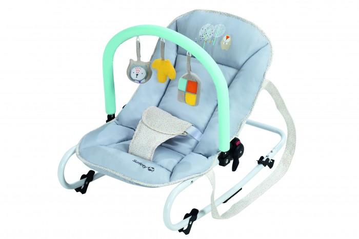 Safety 1st Кресло-качалка KoalaКресло-качалка KoalaКресло-качалка Safety 1st Koala – удобный и комфортный шезлонг для малыша во время бодрствования или для дневного сна.  Особенности: Широкое комфортное сиденье Регулируемая спинка: 3 положения Угол наклона спинки сидения: от 100 до 140 градусов Возможно фиксированное или качающееся положение кресла 3-точечные ремни безопасности Съёмная дуга с игрушками Чехол снимается, можно стирать Лёгкое, компактное кресло, удобно брать с собой. Размер: 67 x 40 x 49 см. Вес: 2.8 кг. Возраст: с рождения до 9 кг.<br>