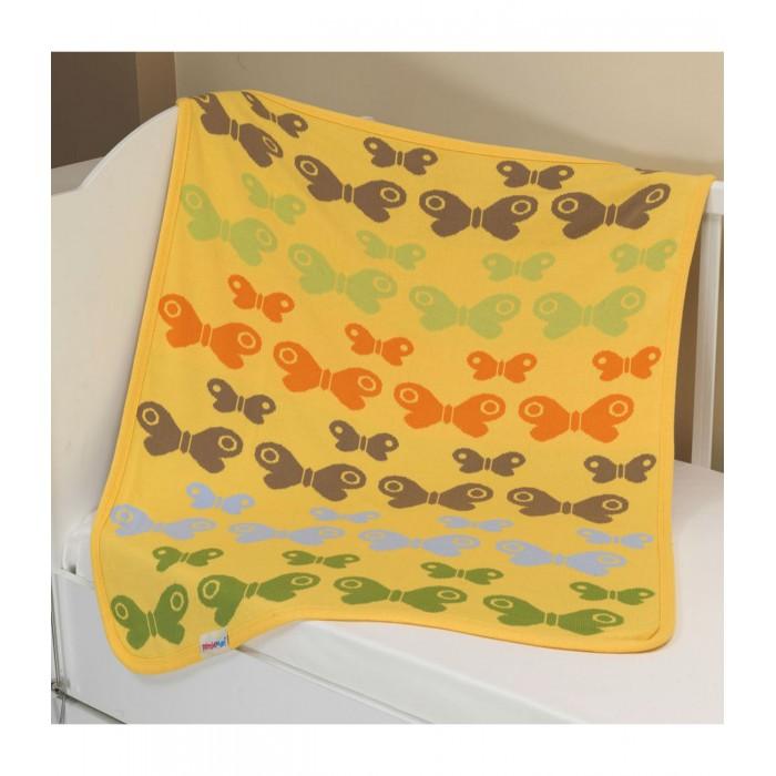 Пледы Sansli вязаный Бабочки U14-11 100х90 см лео плед вязаный лео с рисунком 90 100 30% шерсть 70% акрил синий зайчонок