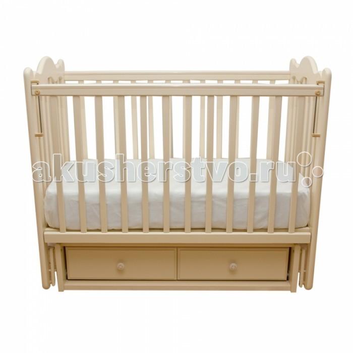 Детские кроватки Счастливый малыш Дюймовочка (поперечный маятник) детские кроватки фея 603 с ящиком