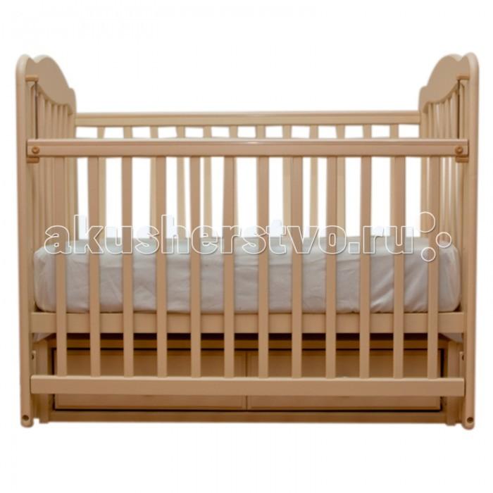 Детские кроватки Счастливый малыш Дюймовочка (продольный маятник) обычная кроватка счастливый малыш дюймовочка 008 светлый орех