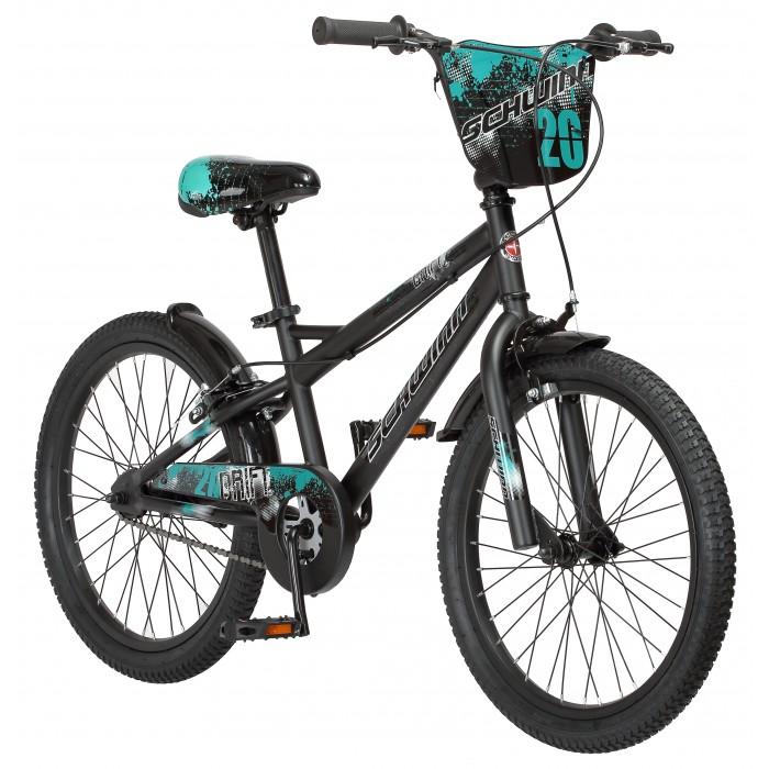 Велосипед двухколесный Schwinn детский Drift 20Двухколесные велосипеды<br>Велосипед двухколесный Schwinn детский Drift 20 разрабатывался на базе спортивных велосипедов.   Особенности: Заниженная геометрия рамы в сочетании со строгими углами труб, а так дизайн в графити стиле создают агрессивный и запоминающийся облик, который придётся по вкусу большинству мальчише Особая геометрия рамы с вынесенной вперёд кареткой позволяет легко удерживать баланс при обучении катанию Седло и руль в стиле ВМХ регулируются по высоте, а значит, велосипед будет расти вместе с ребёнком, и прослужит не один год Для большей практичности Schwinn Drift оснащён полноразмерной защитой цепи, которая предотвращает загрязнение одежды Надёжные ободные тормоза Регулировка высоты седла без инструментов Регулировка руля по высоте и наклону Полноразмерная защита цепи Колёса 20.