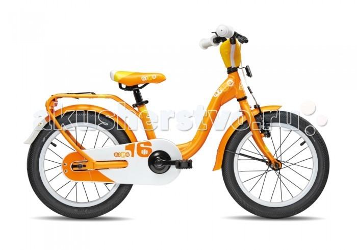 Велосипед двухколесный Scool niXe 16niXe 16Детский велосипед Scool niXe 16 для детей с ростом от 100 см от 3-х лет. Специально заниженная алюминиевая рама для удобства в посадке и безопасность при соскоке на раму. Регулировка подъёма руля по высоте для выбора оптимальной посадки.   Полноразмерные металлические крылья для лучшей защиты от грязи. Защитный кожух на цепь предотвращает попадания штанов в систему. Классический педальный тормоз, плюс ручной тормоз переднего колеса.   Вес - 9.8 кг Размер колёс - 16 Рама велосипеда - S'COOL Junior LE 16 6061 alloy Вилка - HiTen Тип тормозов - Ножной Количество скоростей - 1 Руль - Junior Uprise 500 mm black Обмотка руля/грипсы - Softgrip 100 mm buffle protection Вынос - with Crash pad Тормозные ручки - Kids ajustable Передний тормоз - V-Brake+Power Adjuster Задний тормоз - Coaster brake Передняя втулка - alloy black Задняя втулка - Coaster brake, black Обода колес - LA-05 alloy black Покрышки - SCOOL Speedster 16 x 2.00 Ballon Reflex Logo Кассета - 16 T Каретка - VP-BC 73 Compact Система - SOFOH 32 T, 114 mm, black Педали - VP-220 Ball-bearings Крылья - S'COOL Junior Design steel color Подседельный штырь - YP 27.2 mm, black<br>