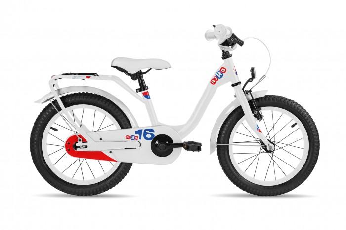 Велосипед двухколесный Scool niXe 16 steelniXe 16 steelДетский велосипед Scool niXe 16 steel для детей с ростом от 100 см от 3-х лет. Специально заниженная стальная рама для удобства в посадке и безопасность при соскоке на раму. Регулировка подъёма руля по высоте для выбора оптимальной посадки.   Полноразмерные металлические крылья для лучшей защиты от грязи. Защитный кожух на цепь предотвращает попадания штанов в систему. Классический педальный тормоз, плюс ручной тормоз переднего колеса.   Вес - 10.3 кг Размер колёс - 16 Рама велосипеда - S'COOL Junior LE 16 steel Вилка - HiTen Тип тормозов - V-brake  Количество скоростей - 1 Руль - Junior Uprise 500 mm black Обмотка руля/грипсы - Softgrip 100 mm buffle protection Вынос - with Crash pad Тормозные ручки - Kids ajustable Передний тормоз - V-Brake+Power Adjuster Задний тормоз - POWER Coaster brake  Передняя втулка - SCOOL steel black  Задняя втулка - Coaster brake, black Обода колес - alloy color Покрышки - SCOOL Kids 16 x 2.25  Кассета - 16 T Каретка - CC-886, Ball Bearing  Система - SHUN 28 T, 114 mm, black Педали - HF-316 mit Reflektoren with reflectors Крылья - S'COOL Junior Design steel color Подседельный штырь - steel, black<br>