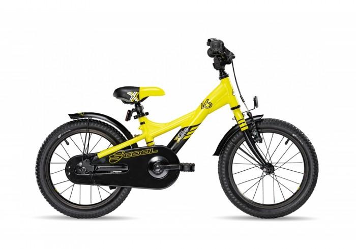 Велосипед двухколесный Scool XXlite 16XXlite 16Детский велосипед Scool XXlite 16 для детей с ростом от 100 см от 3-х лет. Велосипед собран на современной облегченной раме и имеет все необходимое: регулировка подъёма руля по высоте для выбора оптимальной посадки, полноразмерные металлические крылья для лучшей защиты от грязи.   Защитный кожух на цепь предотвращает попадания штанов в систему. Классический педальный тормоз, плюс ручной тормоз переднего колеса.   Вес - 9.6 кг Размер колёс - 16 Рама велосипеда - S'COOL Junior XX 16 6061 alloy  Вилка - HiTen Тип тормозов - Ножной Количество скоростей - 1 Руль - Junior Uprise 450 mm black Обмотка руля/грипсы - Softgrip 100 mm buffle protection  Вынос - with Crash pad Neopren Тормозные ручки - Kids ajustable Передний тормоз - V-Brake+Power Adjuster Задний тормоз - Coaster brake Передняя втулка - JY 16 H, alloy black  Задняя втулка - Coaster brake Обода колес - LA-07 alloy black Покрышки - S'COOL Cube 16 x 1.75 Reflex Logo Кассета - 16 T Каретка - VP-BC 73 Compact Система - SOFOH 32 T, 114 mm, black Педали - VP-220 Ball-bearings Крылья - S'COOL Junior Design steel color Подседельный штырь - YP 27.2 mm, black<br>