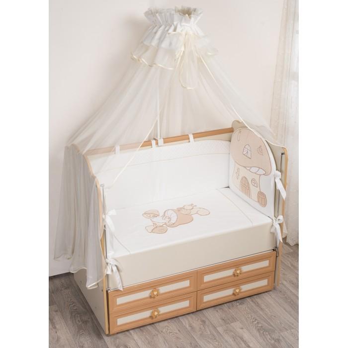 Комплект в кроватку Селена (Сдобина) Грибочек (7 предметов)