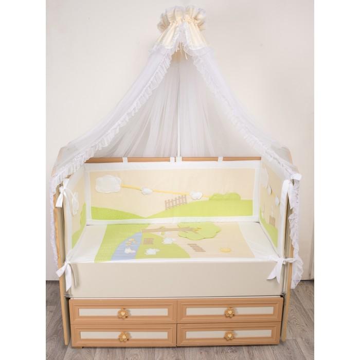 Комплекты в кроватку Селена (Сдобина) Летнее утро (7 предметов) комплект в кроватку сдобина летнее утро 7 предметов салатовый 91