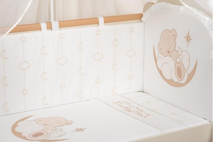 Бортики в кроватку Селена (Сдобина) Счастливый мишка, Бортики в кроватку - артикул:563581