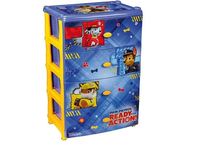 Детская мебель , Ящики для игрушек Щенячий патруль (Paw Patrol) Комод широкий арт: 421709 -  Ящики для игрушек