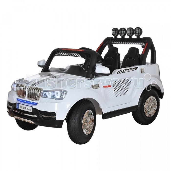 Электромобиль Shine Ring 12V/10Ahх212V/10Ahх2Shine Ring Электромобиль 12V/10Ahх2 SR8089-A  Особенности: Материал колес: надувные колеса-резина Материал корпуса: Высококачественный ударопрочный пластик Количество аккумуляторных батарей: 1 Напряжение одной аккумуляторной батареи: 12V Емкость одной аккумуляторной батареи: 10A/h Количество мотор-редукторов: 4 Педаль газа Количество открывающихся дверей: 2 Амортизаторы на передней оси Амортизаторы на задней оси Светодиодные передние фары Светодиодные задние фонари Функция медленного старта Количество скоростей вперед: 3 Количество скоростей назад: 1 Разъем для подключения Mp3 девайсов Наличие провода для подключения Mp3 девайсов Слот для карты памяти Micro SD Разъем для подключения USB FM радио Регулировка громкости Пульта Дистанционного управления Радиочастота пульта ДУ: 2,4 Ghz Звуковые эффекты Кожаный чехол на сиденье Ремень безопасности Электроусилитель руля Запуск двигателя кнопкой Максимальная скорость: 5км/ч Время зарядки: 8-10 часов Время работы от аккумуляторной батареи: 1-1.5 часа Максимальная нагрузка: 50кг<br>