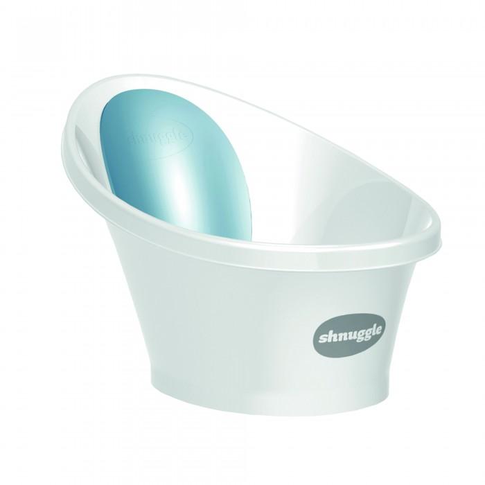 Картинка для Детские ванночки Shnuggle Ванночка для купания малыша с мягкой спинкой фиксатором и клапаном