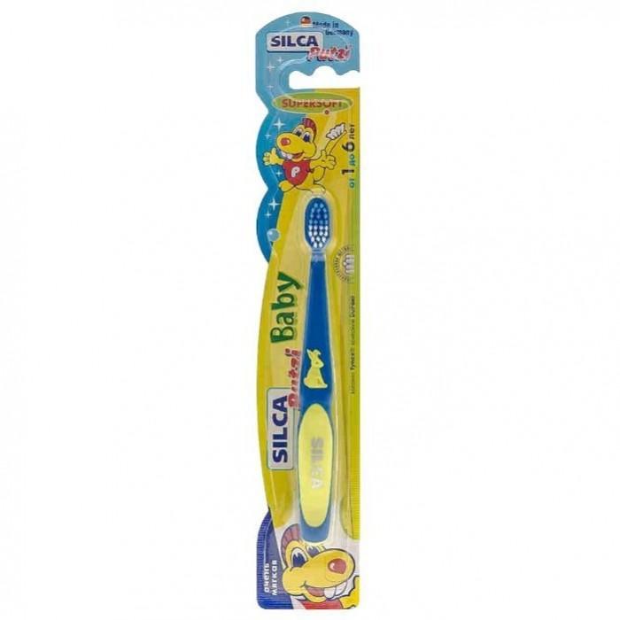 Гигиена полости рта Silca Putzi Зубная щетка Baby 1-6 лет silca зубная щетка dent средняя щетина на подставке