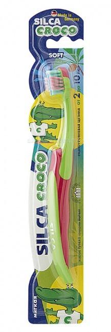 Гигиена полости рта Silca Putzi Зубная щетка Croco 2-10 лет lucky john croco spoon big game mission 24гр 004