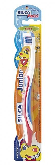 Гигиена полости рта Silca Putzi Зубная щетка Junior 6-12 лет silca зубная щетка dent средняя щетина на подставке