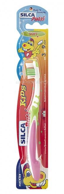 Гигиена полости рта Silca Putzi Зубная щетка Kids 3-9 лет silca зубная щетка dent средняя щетина на подставке