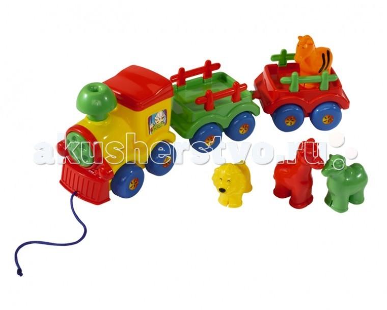 Каталки-игрушки Simba ABC Веселый паровозик no name веселый паровозик с ремнем