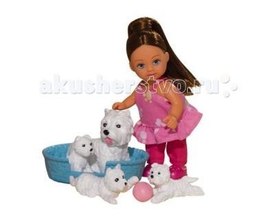 Куклы и одежда для кукол Simba Кукла Еви с домашними животными simba мини кукла еви minnie mouse блондинка цвет платья красный белый