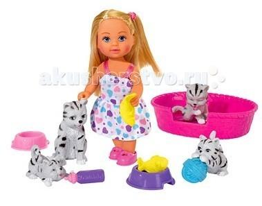 Куклы и одежда для кукол Simba Кукла Еви с домашними животными куклы и одежда для кукол simba кукла еви со стильной собачкой 12 cм