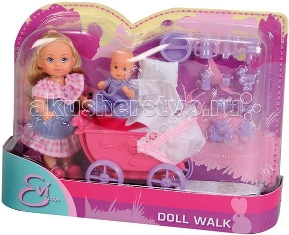 Куклы и одежда для кукол Simba Кукла Еви с малышом на прогулке куклы и одежда для кукол simba кукла еви со стильной собачкой 12 cм