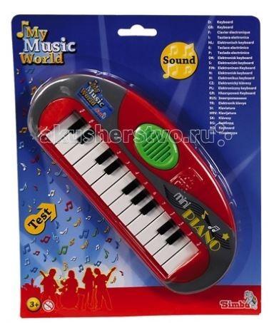 Музыкальные игрушки Simba Мини-пианино музыкальные игрушки simba гитара на батарейках