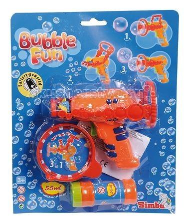 Мыльные пузыри Simba Набор мыльных пузырей Bubble Fun 55 мл с пистолетом мыльный раствор для пузырей екатеринбург