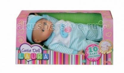 Куклы и одежда для кукол Simba New Born Laura 10 звуков куклы и одежда для кукол simba пупс 38 см 5032533