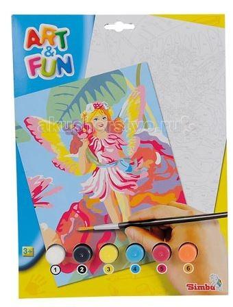 Раскраски Simba Раскраска по номерам Art&Fun 6 цветов наборы для рисования цветной раскраски по номерам красочный единорог