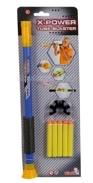 Игрушечное оружие Simba X-Power Трубка с пистонами игрушечное оружие simba водный пистолет toy story 42 см