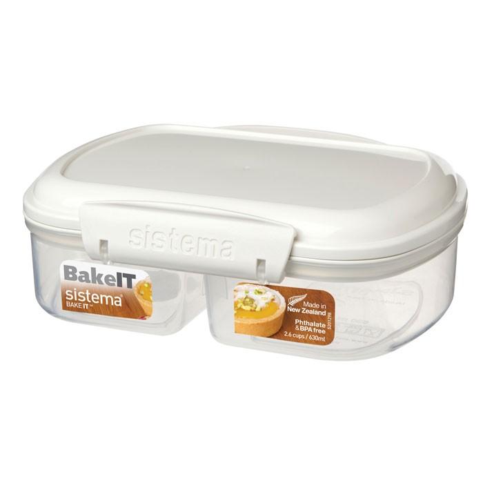 Фото - Контейнеры для еды Sistema Bake-It Контейнер двойной 630 мл контейнеры для еды sistema контейнер квадратный 591 мл