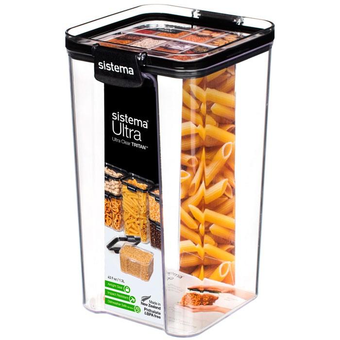Картинка для Контейнеры для еды Sistema Контейнер квадратный тритан 1,3 л