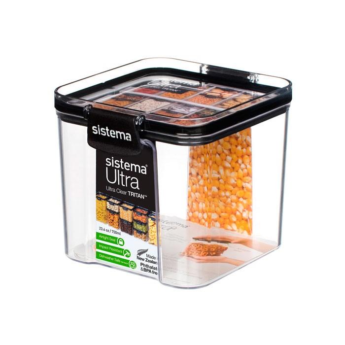 Фото - Контейнеры для еды Sistema Контейнер квадратный тритан 700 мл контейнеры для еды sistema контейнер квадратный 591 мл