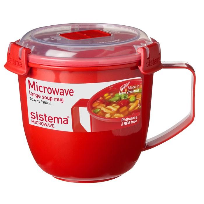 Картинка для Контейнеры для еды Sistema Microwave Кружка суповая 900 мл