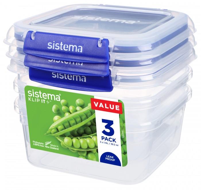 Купить Контейнеры для еды, Sistema Набор контейнеров 1.15 л 3 шт.