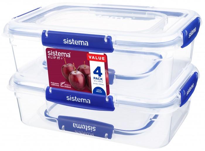 Картинка для Контейнеры для еды Sistema Набор контейнеров 4 шт. 881715
