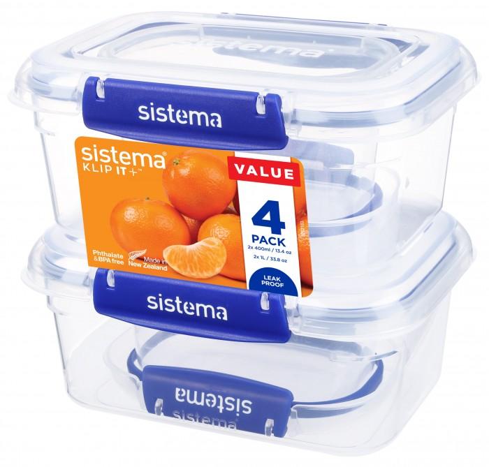 Купить Контейнеры для еды, Sistema Набор контейнеров 4 шт.