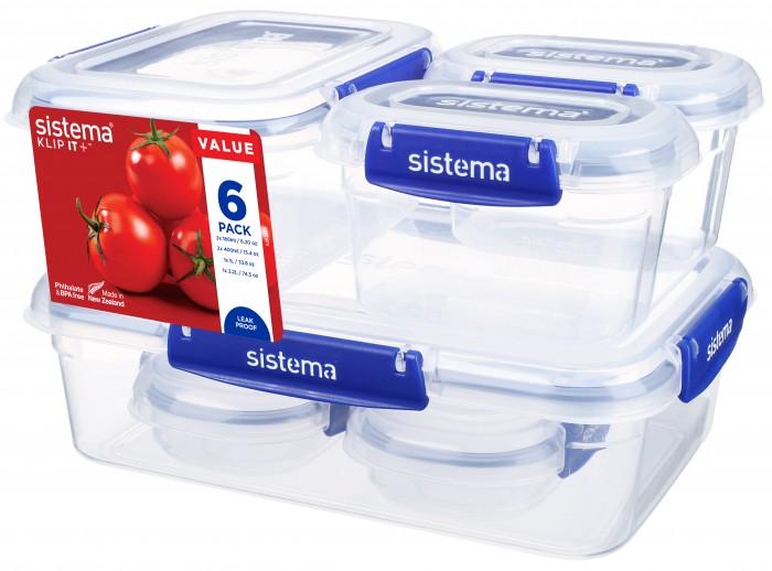 Купить Контейнеры для еды, Sistema Набор контейнеров 6 шт.