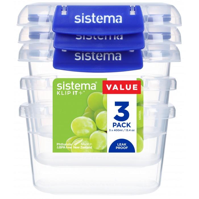 Купить Контейнеры для еды, Sistema Набор контейнеров для продуктов 400 мл 3 шт.