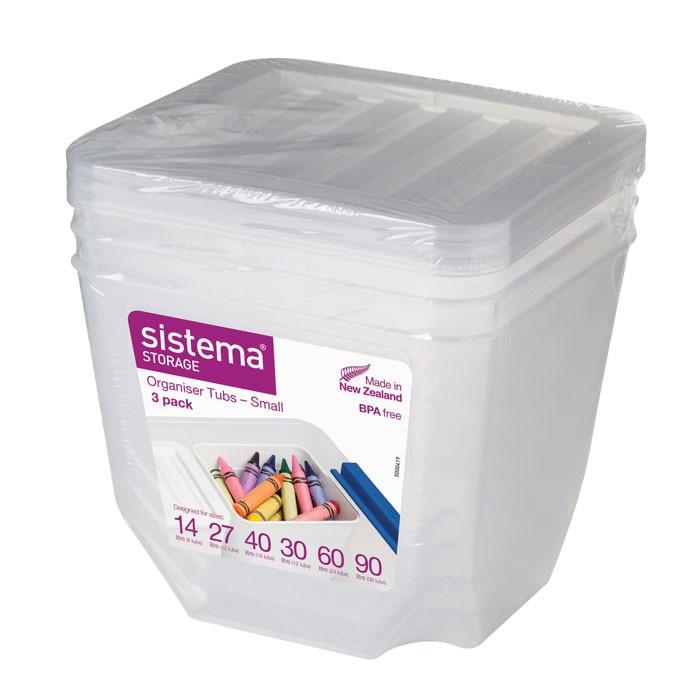 Картинка для Ящики для игрушек Sistema Набор органайзеров 3 шт. по 1,3 л