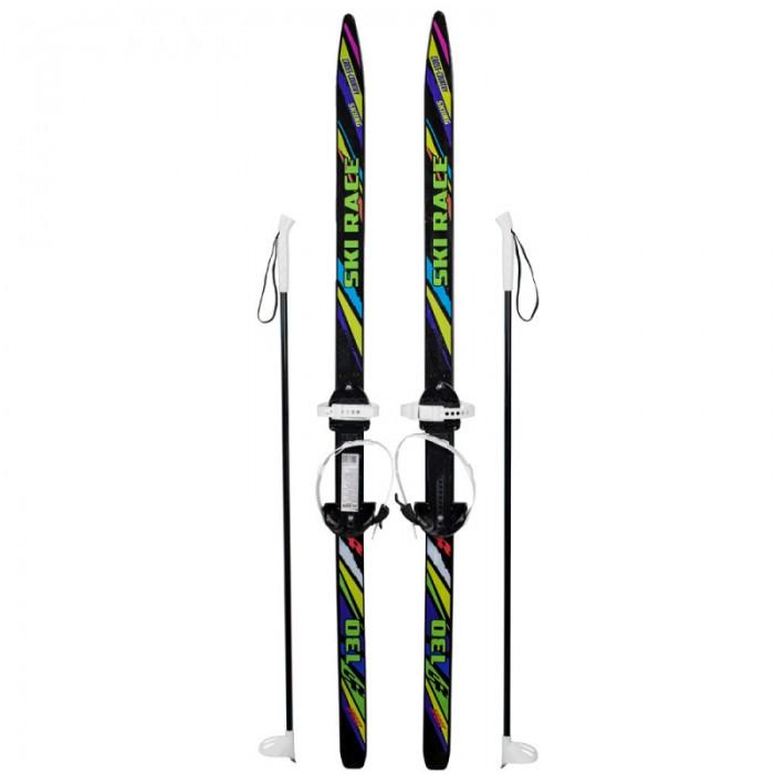 Ледовые коньки и лыжи Ski Race Лыжи подростковые с палками 130 см