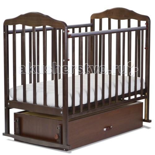 Детская кроватка СКВ Компани Березка 12200 с ящиком поперечный маятник