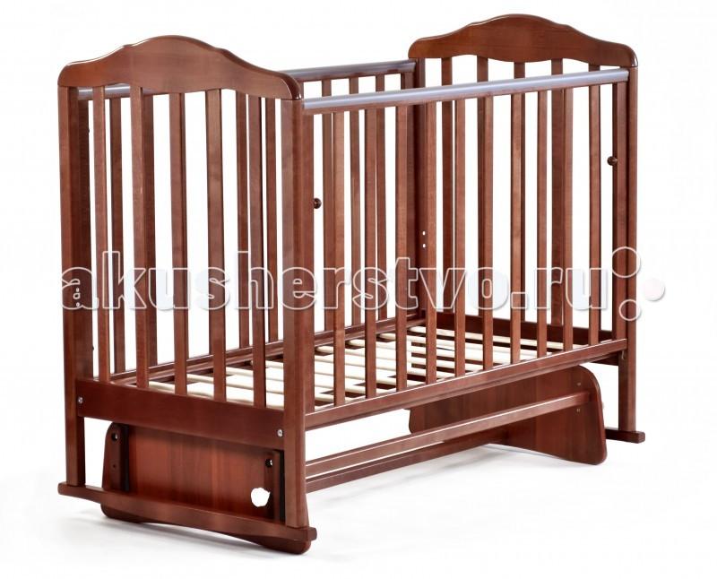 Детская кроватка СКВ Компани Березка 17400 с глянцевой отделкой поперечный маятник