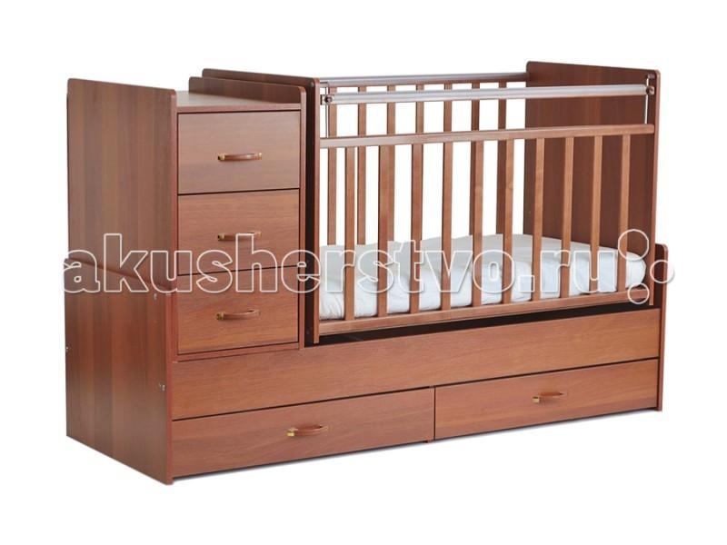 Кроватки-трансформеры СКВ Компани СКВ-5 54403 поперечный маятник выдвижные кровати для двоих детей