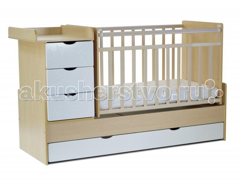 Картинка для Кроватка-трансформер СКВ Компани СКВ-5 Жираф маятник поперечный