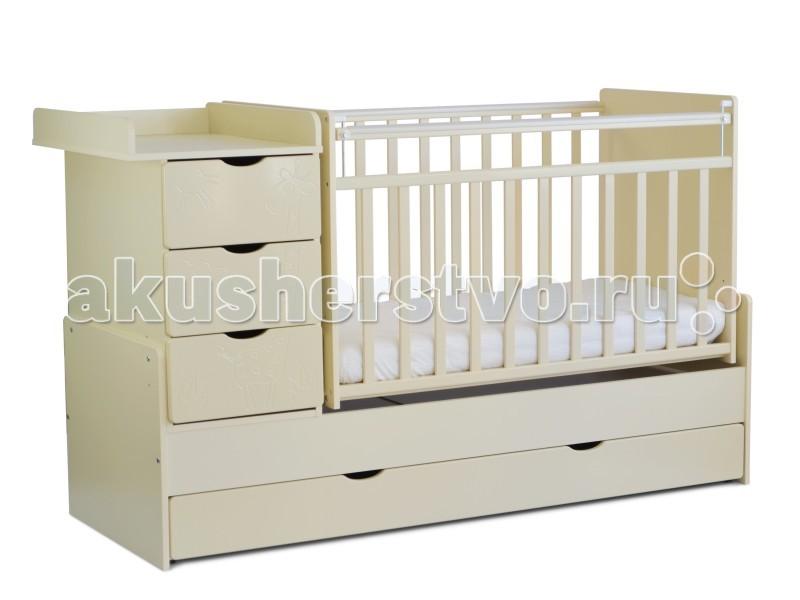 Кроватки-трансформеры СКВ Компани СКВ-5 Жираф маятник поперечный детские кроватки скв компани скв 1 11011 качалка